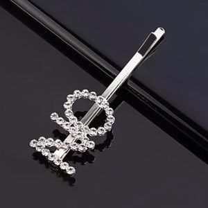 ⚜️[𝟯/$𝟮𝟴]⚜️NO/ON Crystal Silver Hairpin New